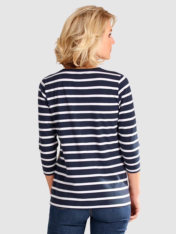 Tričko v proužkovaném designu
