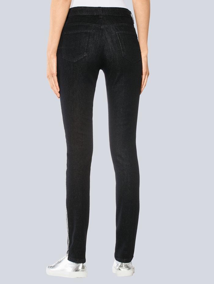 Jeans met modieus glanseffect