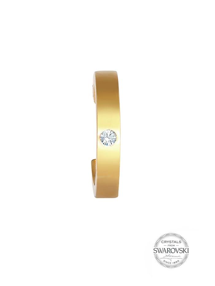 Ohrringe Single Earcuff Swarovski® Kristalle 925 Silber