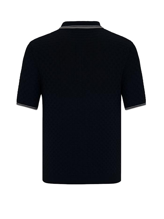 Kurzarm Sweatshirt Zenone mit Polokragen