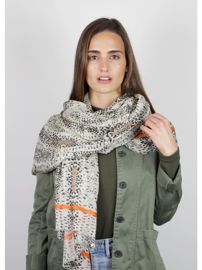 Premium Schal mit Animal-Print aus Modal und Seide