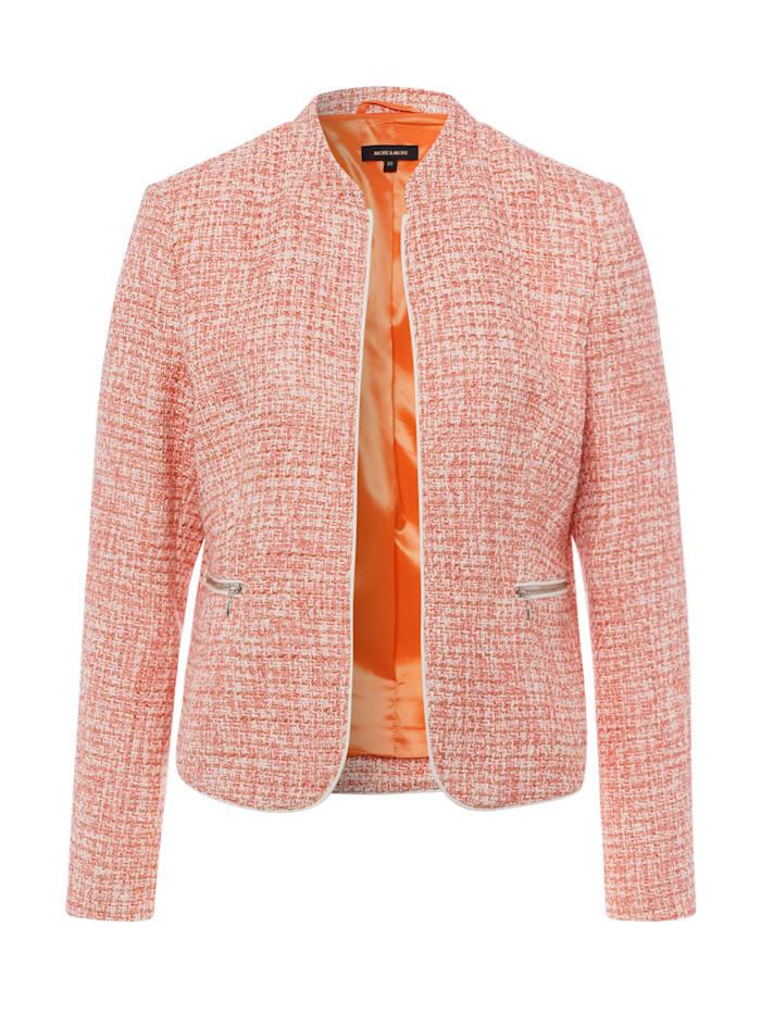 MORE & MORE Blazer, Sommer-Bouclé, orange