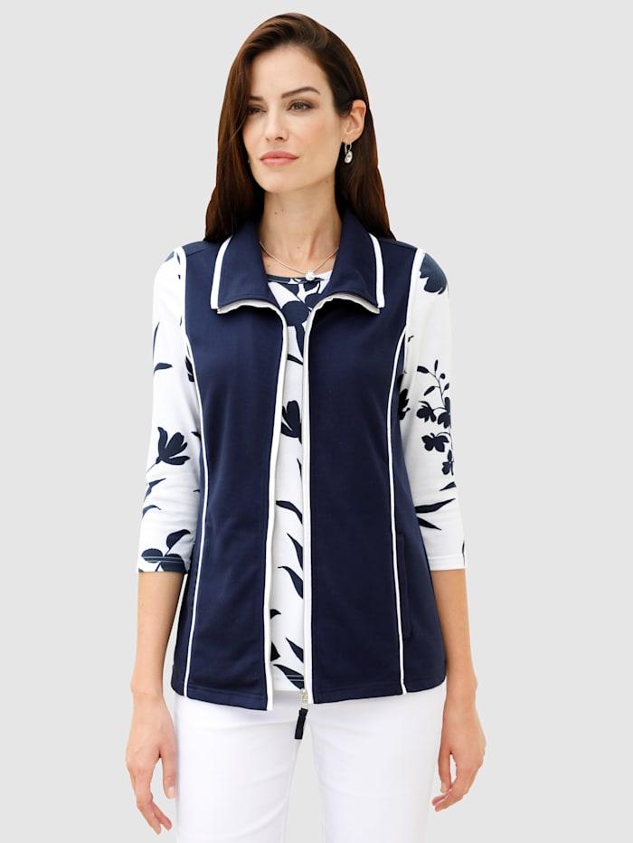 Paola Sweat vesta s kontrastním šitím, Námořnická