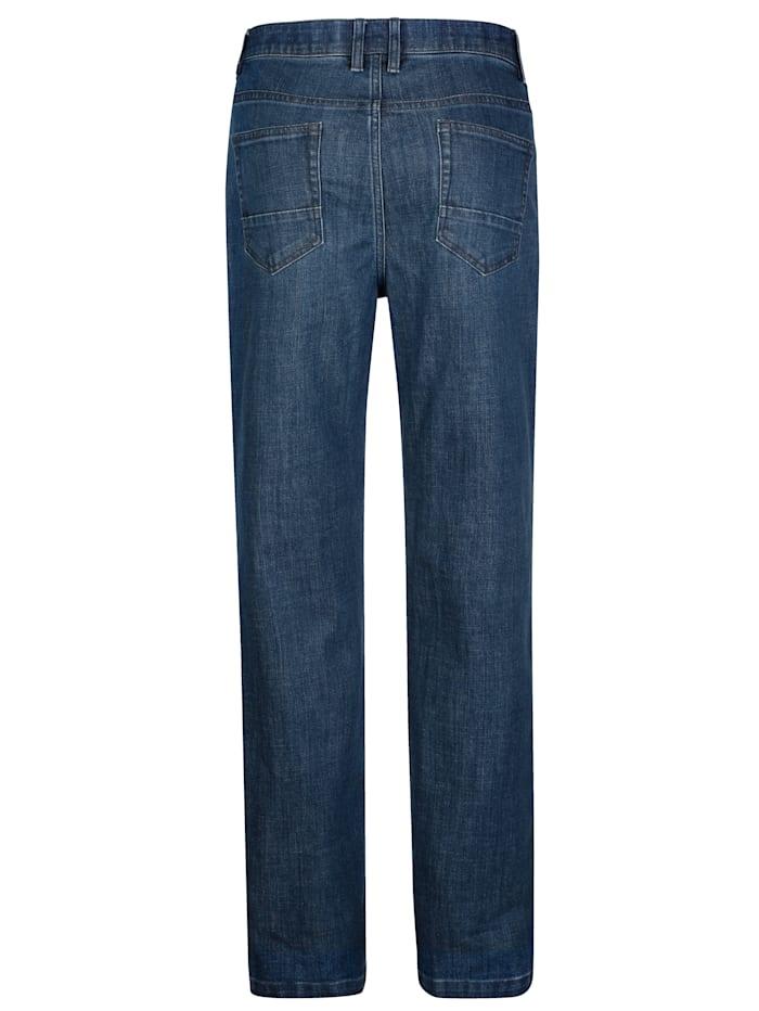 Jeans med dold resår i linningen