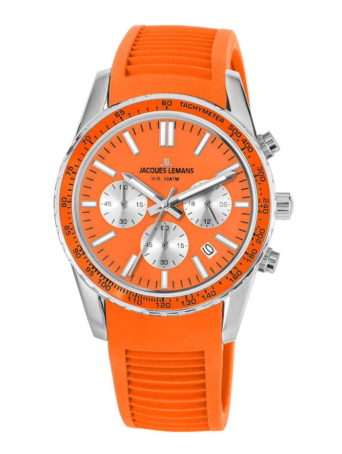 Jacques Lemans Unisex-Uhr Chronograph Serie: Liverpool, Kollektion: Sport 1-2059F, Orange