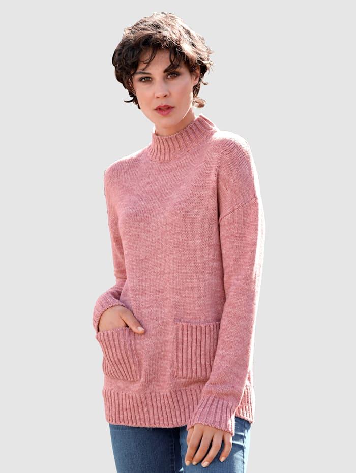 Dress In Tröja med fickor, Rosa