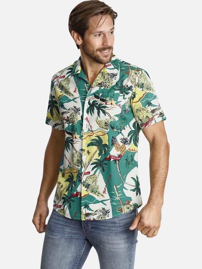 Shirtmaster Shirtmaster Kurzarmhemd soundofwater, grün