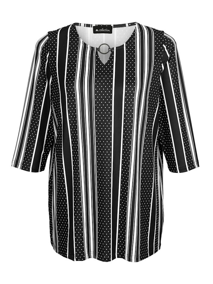Shirt rundum mit streckendem Muster