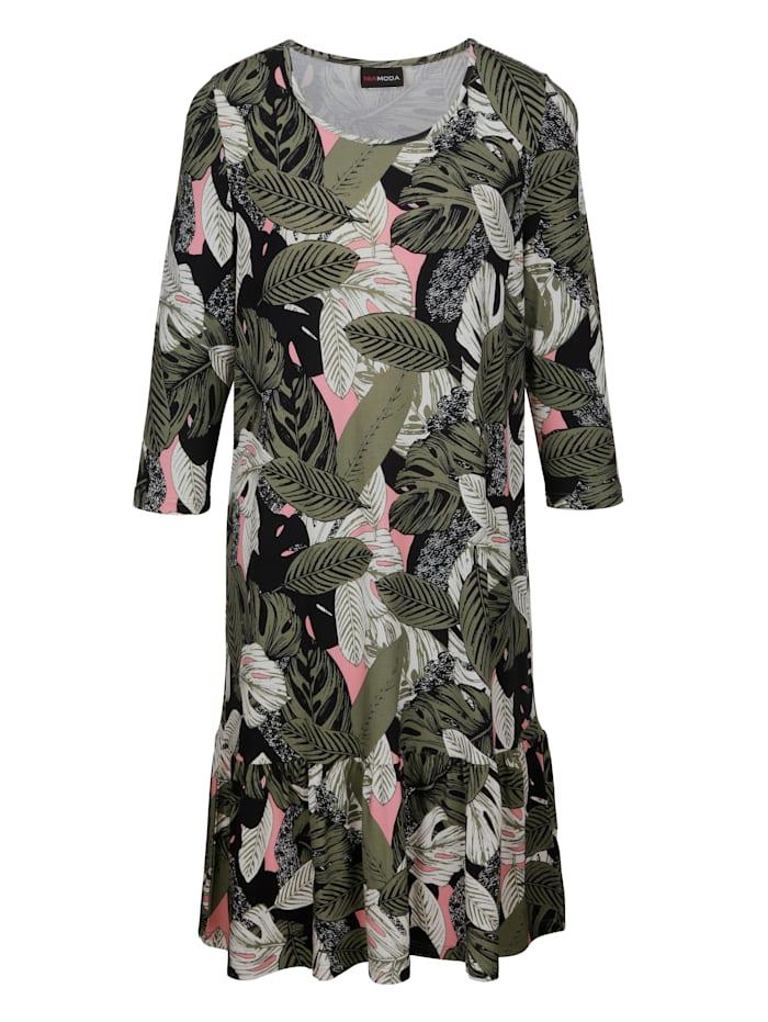 Kleid mit Dschungeldruck-Muster