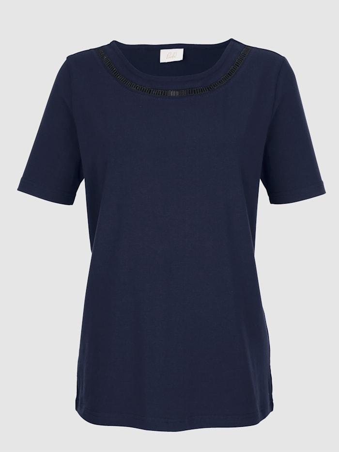 Shirt met opengewerkt borduursel