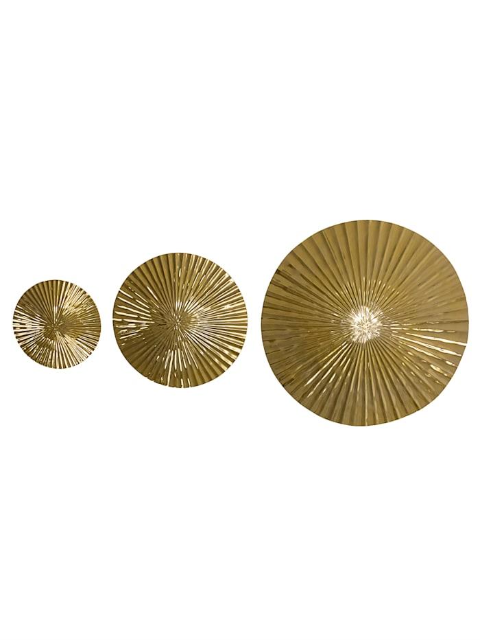 IMPRESSIONEN living Wand-Deko-Set, 3-tlg., goldfarben