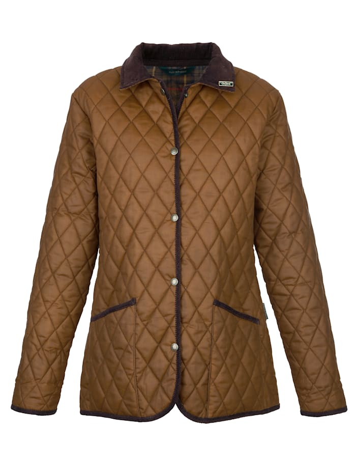 Quilted jacket Protective wax coating