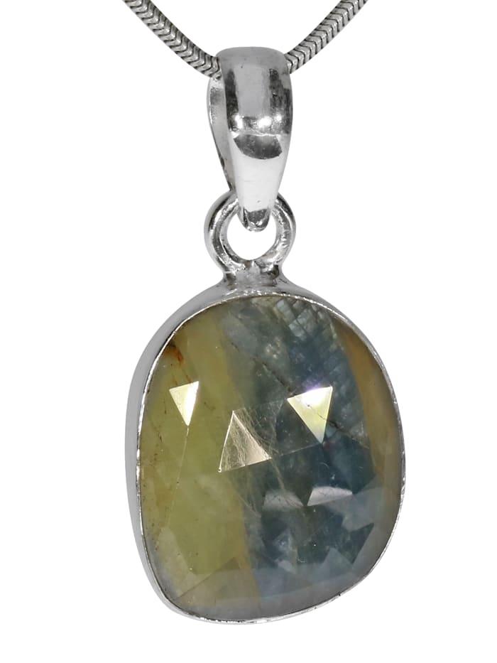 1001 Diamonds Labradorit Anhänger 925 Silber grau, grau
