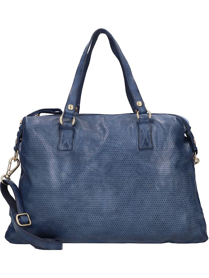 Campomaggi Handtasche Leder 40 cm, blu indaco
