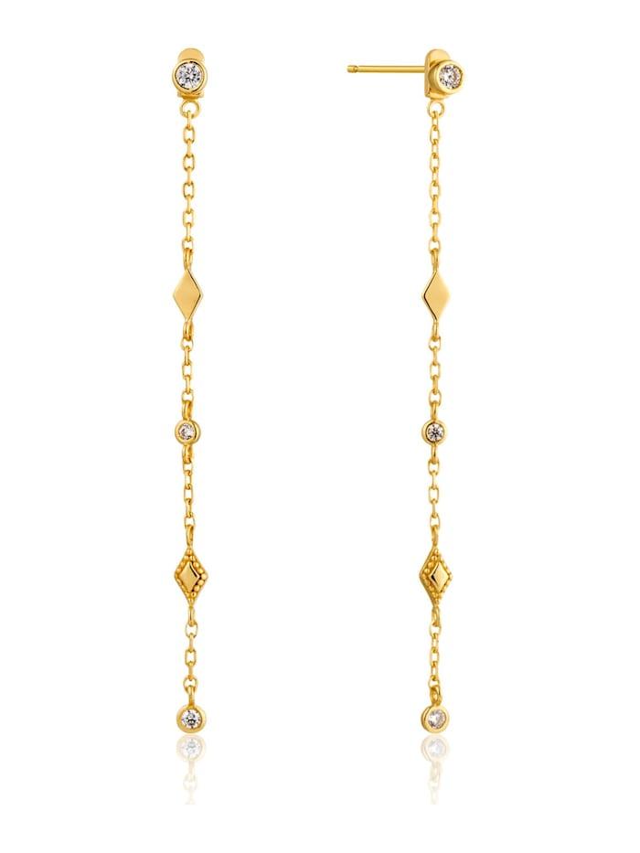Ania Haie Ania Haie Damen-Ohrhänger Bohemia Shimmer Drop Earrings 925er Silber Zirkonia, gold