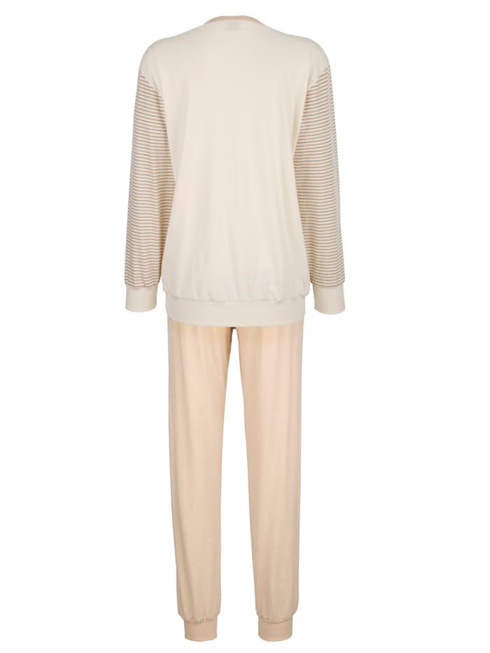 Pyjamas av bomull i naturlig färg