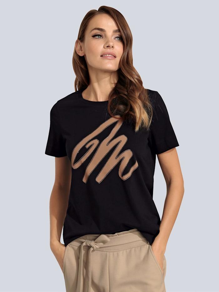 MARGITTES T-Shirt mit Motiv, Schwarz