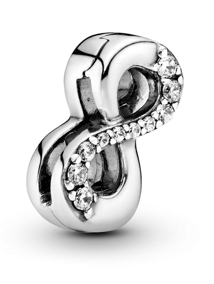 Pandora Clip-Charm -Funkelnder Unendlichkeit - Pandora Reflexions - 797580CZ, Silberfarben