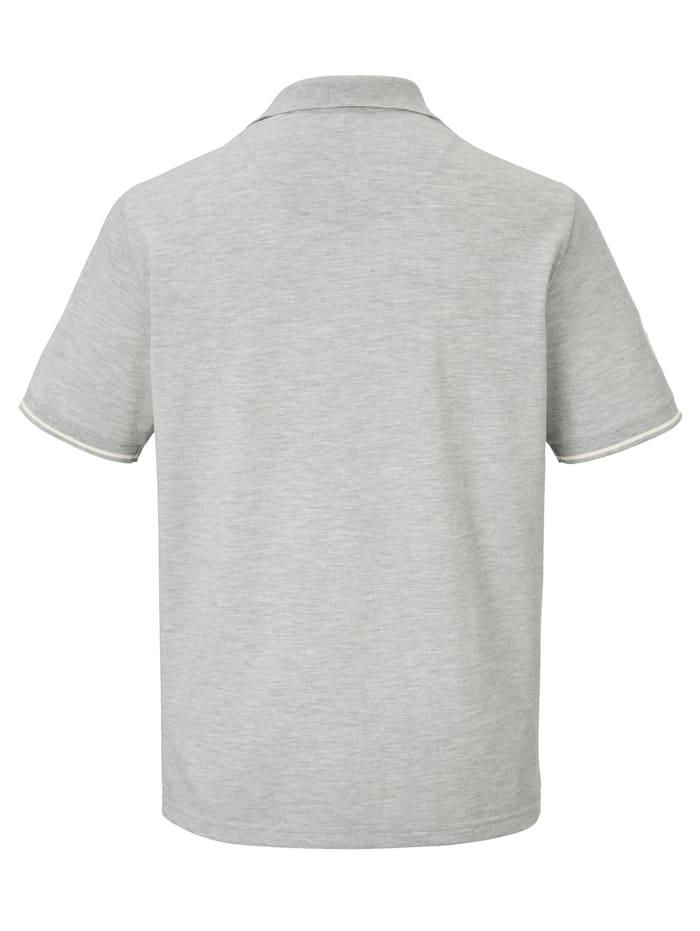 Poloshirt met patches en print