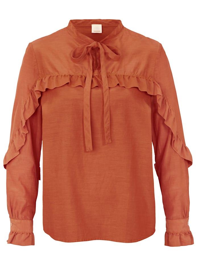 BOSS Bluse Aus hochwertiger Seide, Orange