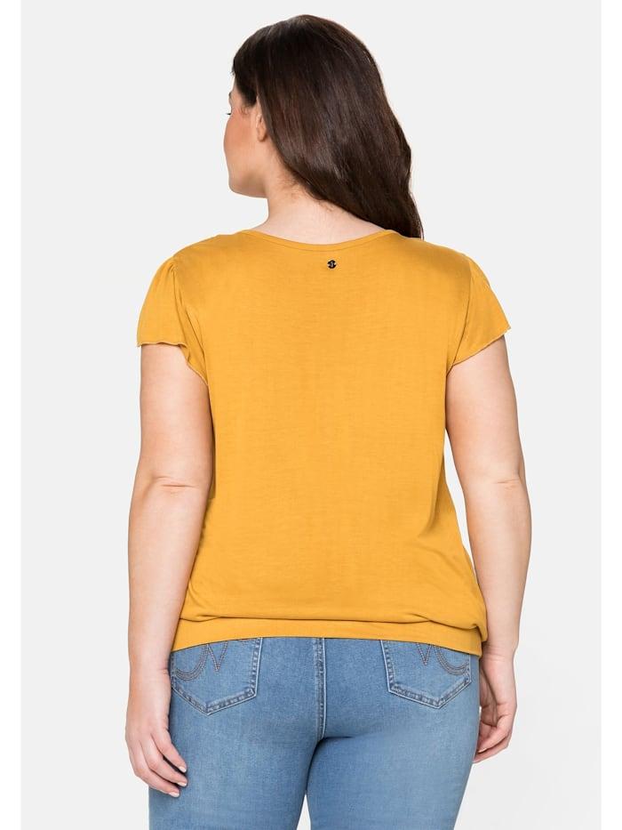 T-Shirt mit Flügelärmeln und breitem Bund