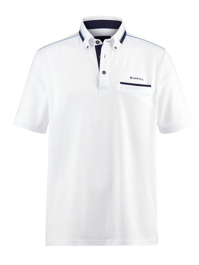 BABISTA Poloshirt met borstzakje, Wit