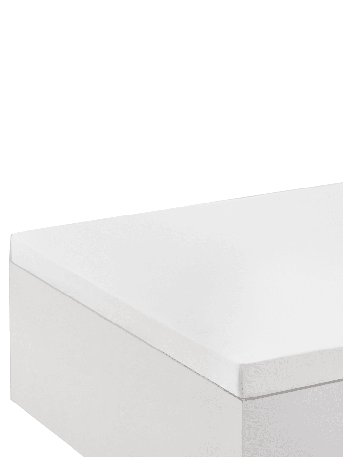 Biberna Jersey Elastic Spannbettlaken für Topper, weiß