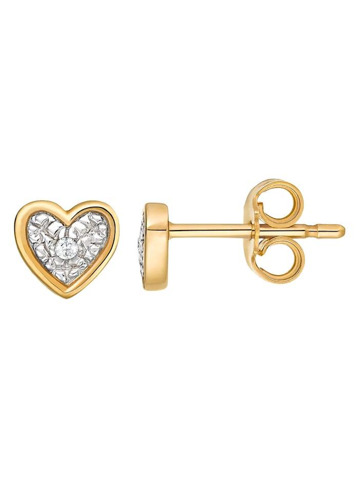 CHRIST Diamonds Damen-Ohrstecker 375er Gelbgold 2 Diamant