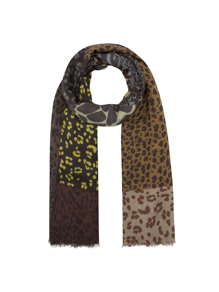 Codello Leo-Schal aus Wolle und Modal, brown