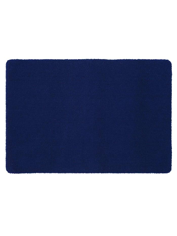 Rhomtuft Bademattenserie 'Square', Kobaltblau