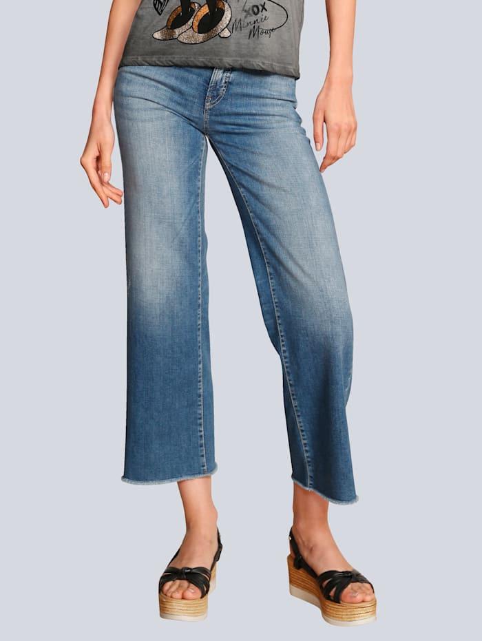 CAMBIO Jeans in modischer Waschung, Blue stone
