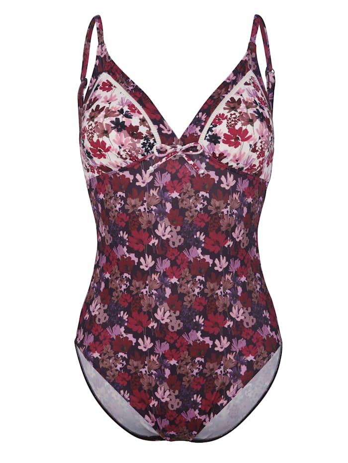 Olympia Badeanzug aus recycelten Fasern, Lila