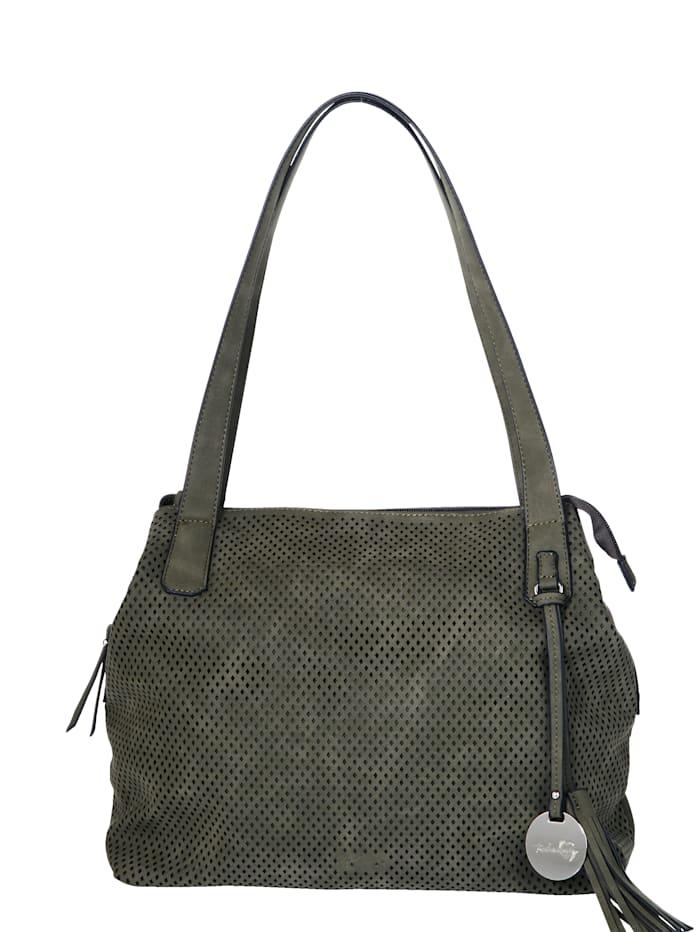 Taschenherz Väska med perforeringar, Olivgrön