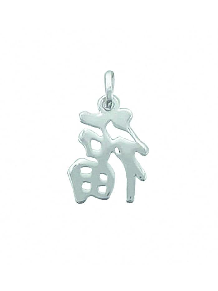 1001 Diamonds Damen Silberschmuck 925 Silber Anhänger Chinesisches Zeichen, silber