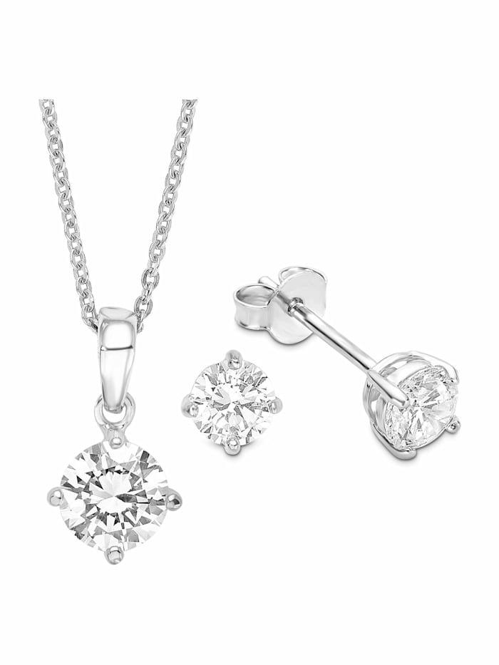 amor Multi-Sets für Damen, Sterling Silber 925, Zirkonia Fantasie, Silber