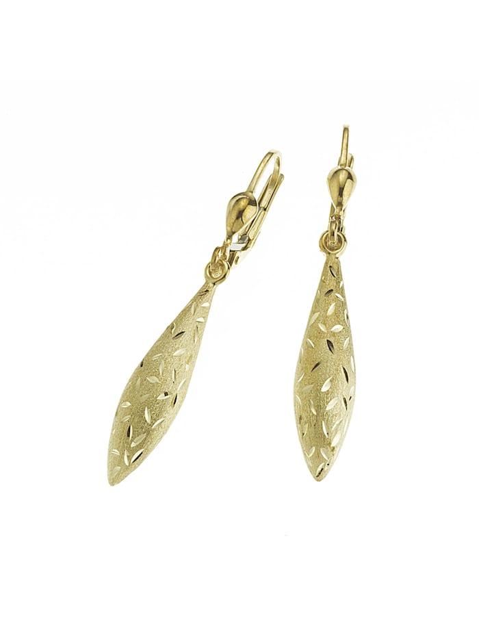 Fascination by Ellen K. Ohrhänger 333/- Gold 3,8cm Diamantschnitt 333/- Gold, gelb
