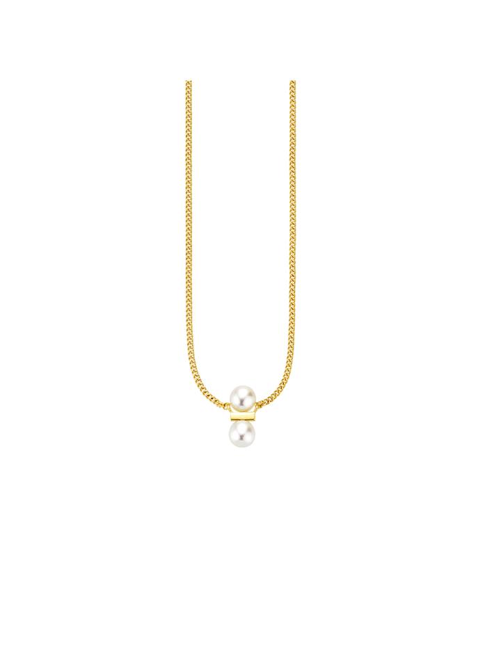 CAI Collier 925/- Sterling Silber Süßwasserzuchtperle 39+3cm Glänzend, gelb