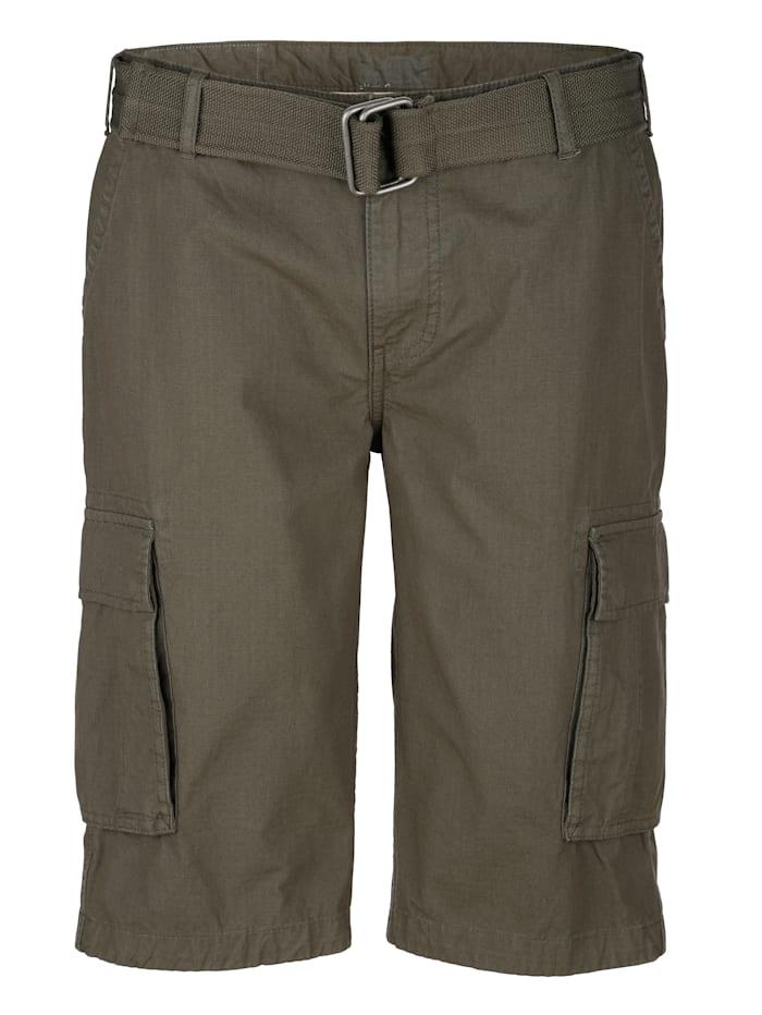 Boston Park Shorts med skärp, Khaki