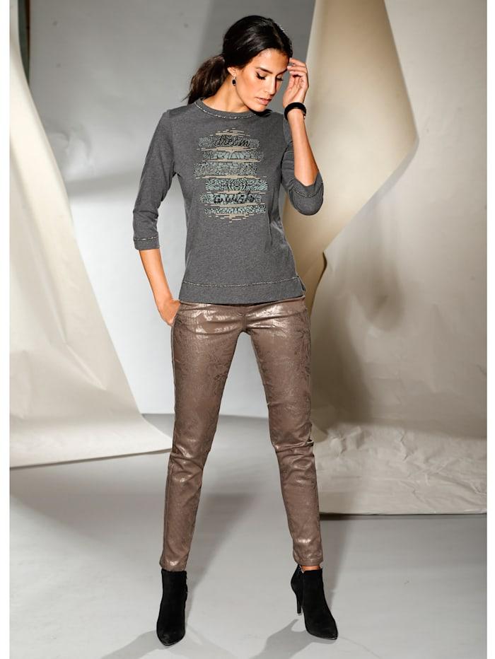 AMY VERMONT Hose beschichtet in Glanzoptik, Bronzefarben