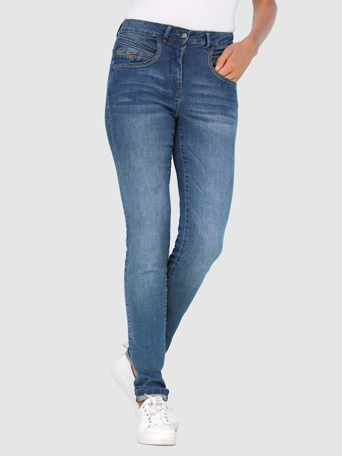 Dress In Jeans in Sabine Slim model, Blauw