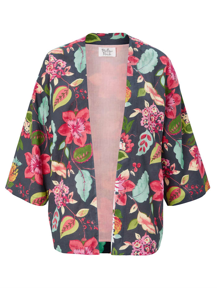 Mellow Peach Kimono Jacke, Multicolor