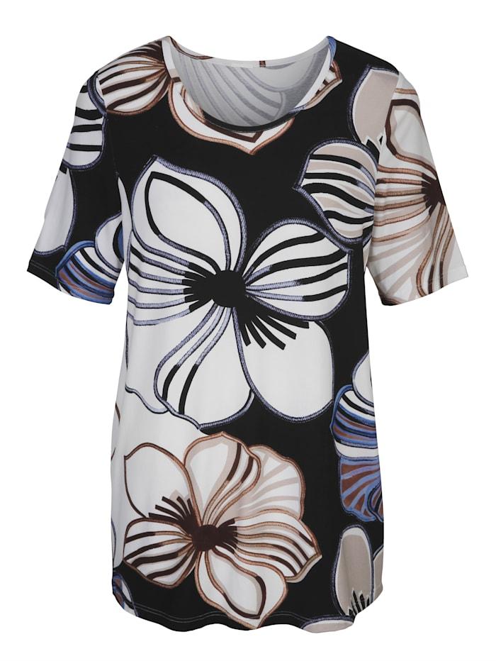Shirt mit ausgefallenem Blumen-Alloverdruck