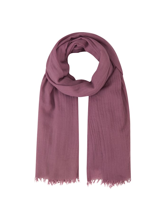 Codello Premium XL-Schal aus Wolle und Seide, dark rose