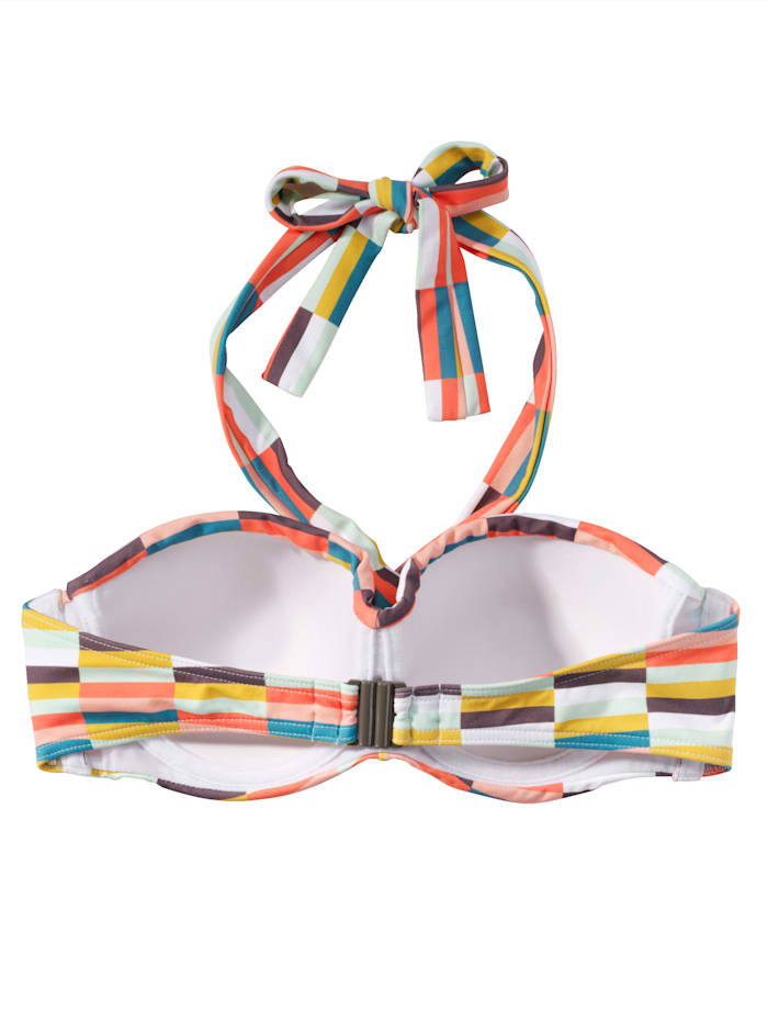 Bandeau-Bikini-Top im Retro-Look