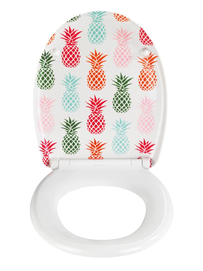 Premium WC-Sitz Ananas, Duroplast, mit Absenkautomatik
