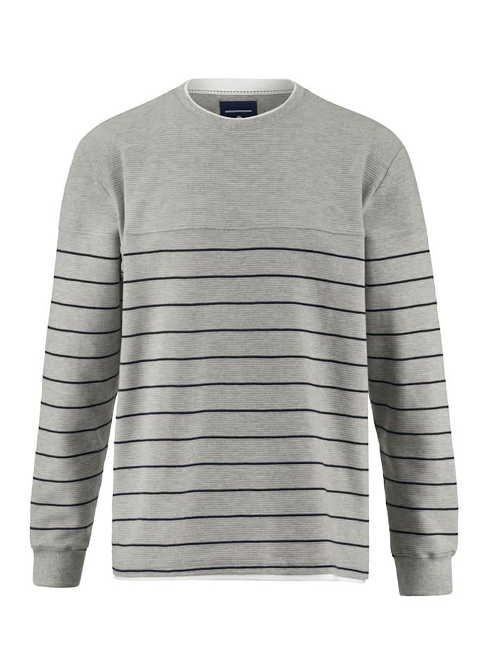 BABISTA Sweatshirt met fijne ribstructuur, Grijs