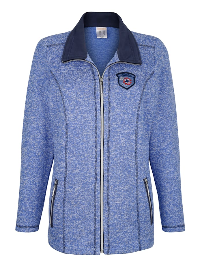 Harmony Freizeitjacke in weicher Fleece-Qualität, Blau/Marineblau