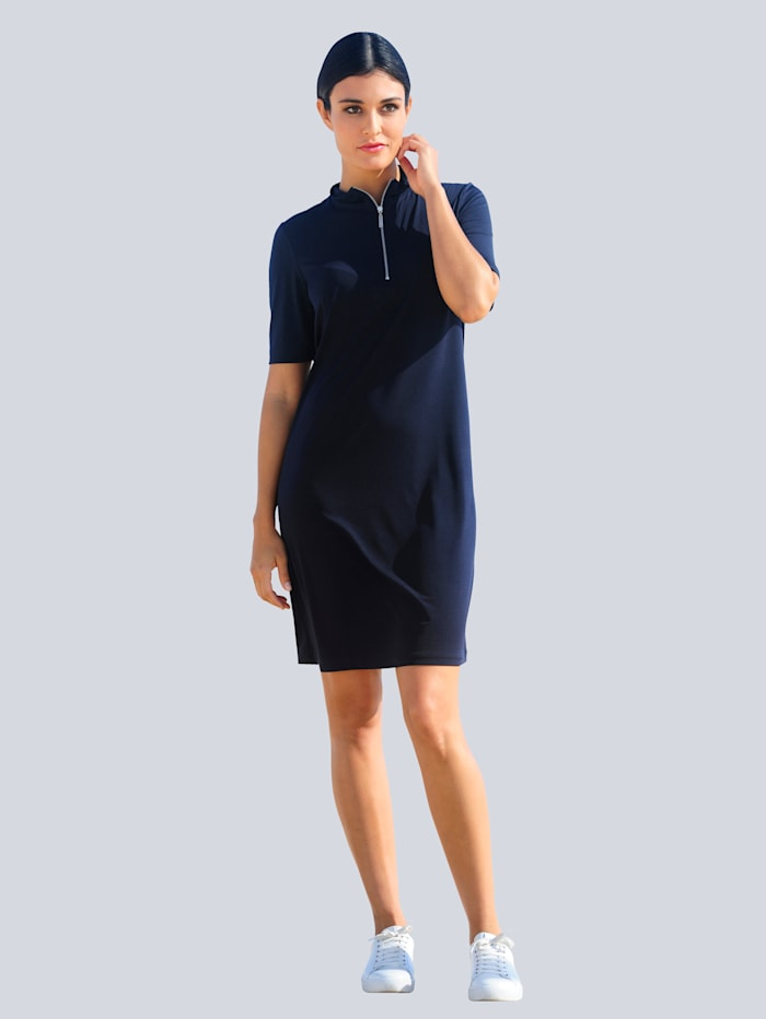 Alba Moda Jersey jurk met rits, Marine