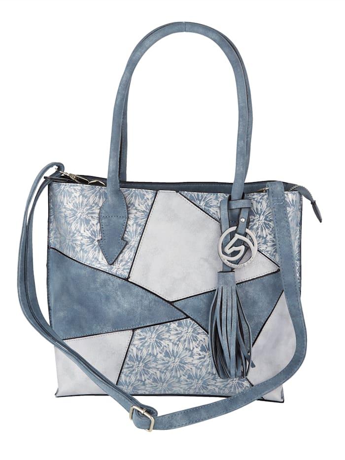 Remonte Rymlig väska med två urtagbara småväskor 3 delar, blå/flerfärgad