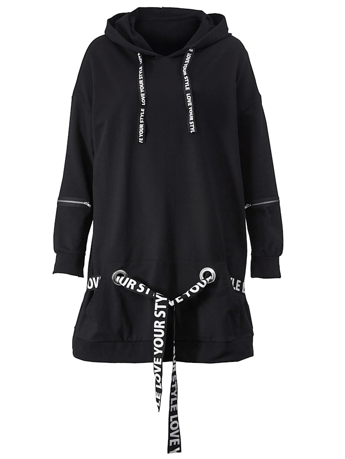 Sweatshirt met gedessineerde bandjes